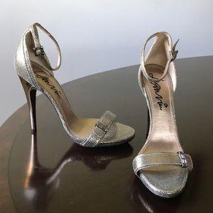Lanvin Textured olive green 9.5M Ankle Wrap Sandal